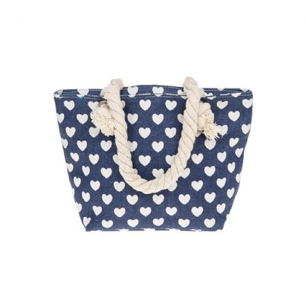Hearts Small Handbag in Blue